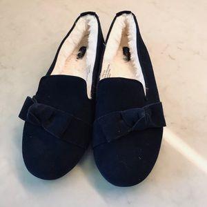 Talbots Navy slippers.